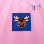 Moose Toddler 4x4 Hoop Puzzle Embroidery Design